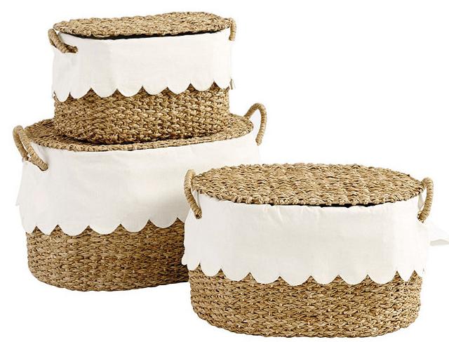 Ballard designs scalloped baskets