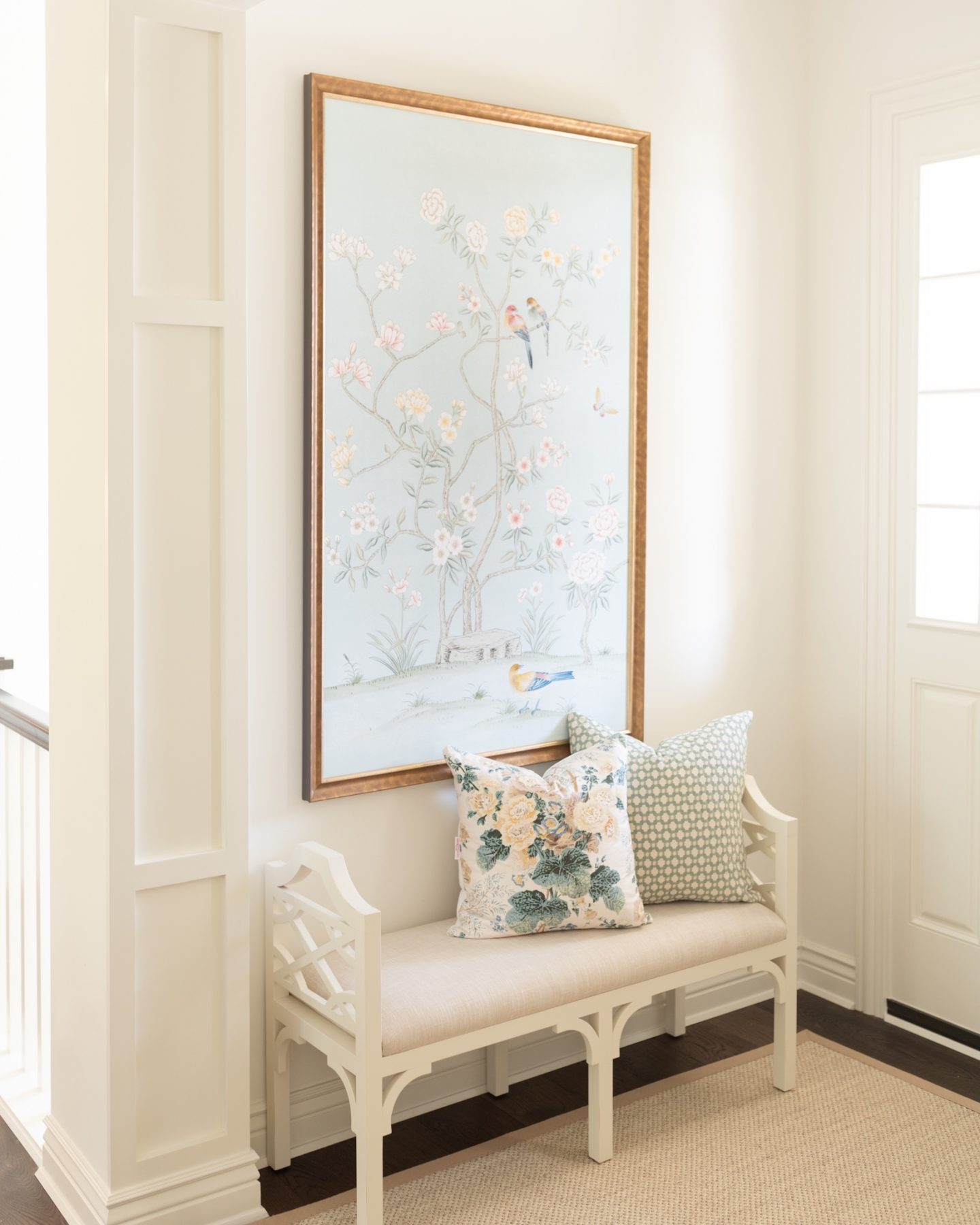 chinoiserie print and bench
