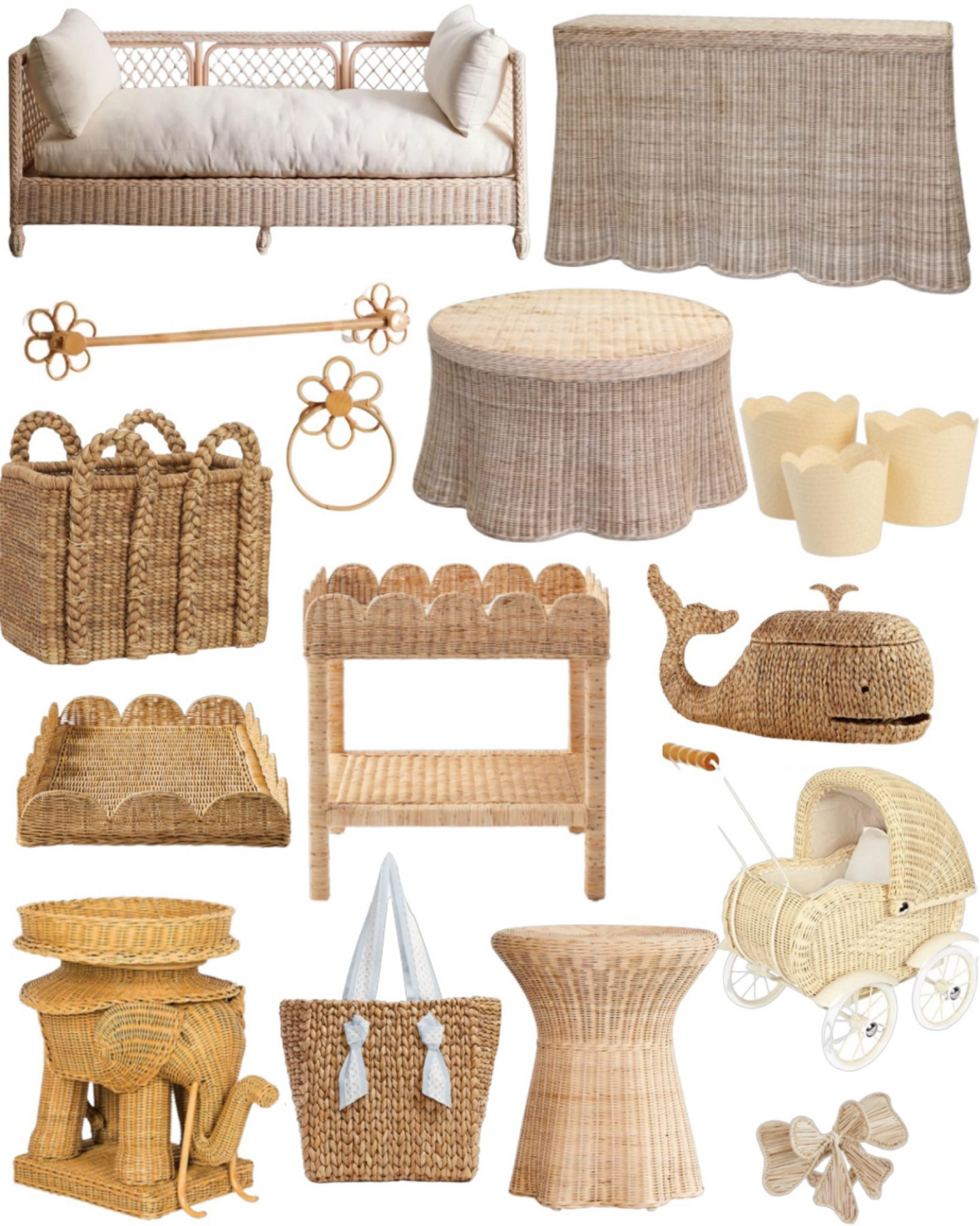 Wicker and rattan home